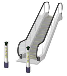 Automação comercial - Escada rolante automatizada